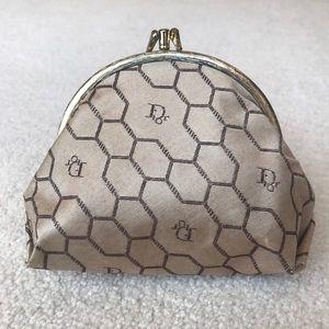 DIOR Vintage 80s Honeycomb Clasp Pouch Bag
